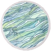 Ocean 1 Round Beach Towel