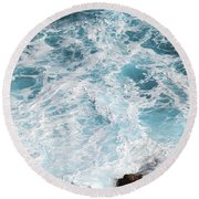 Ocean Abstract Round Beach Towel