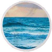 Ocean Art 1 Round Beach Towel