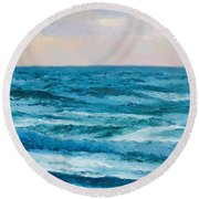 Ocean Art 2 Round Beach Towel