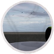 Ocean Balcony Round Beach Towel