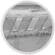 Ocean Chairs Round Beach Towel
