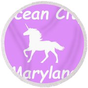 Ocean City Maryland Round Beach Towel