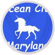 Ocean City Md Round Beach Towel