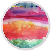 Ocean Deep Round Beach Towel