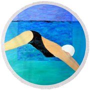 Ocean Dive Round Beach Towel