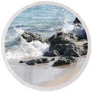Ocean Drive Rocks Round Beach Towel