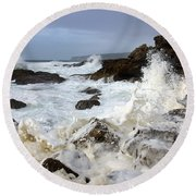 Ocean Foam Round Beach Towel