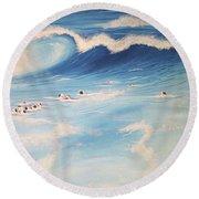 Ocean If Dreams  Round Beach Towel