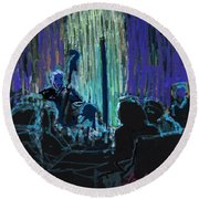 Ocean Lounge Jazz Night Round Beach Towel