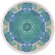 Ocean Metatron Round Beach Towel
