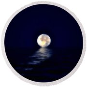 Ocean Moon Round Beach Towel