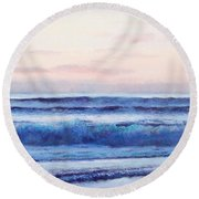 Ocean Painting 'dusk' By Jan Matson Round Beach Towel