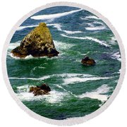 Ocean Rock Round Beach Towel