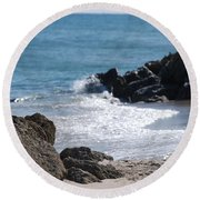Ocean Rocks Round Beach Towel