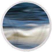 Ocean Stretch - Abstract Round Beach Towel