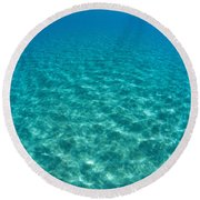 Ocean Surface Reflections Round Beach Towel