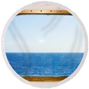 Ocean View Round Beach Towel