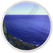 Ocean View From North Head Round Beach Towel