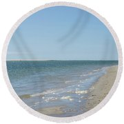 Ocean View From The Beach In Chatham Round Beach Towel