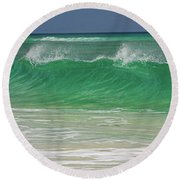 Ocean Wave 1 Round Beach Towel