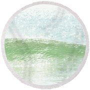 Ocean Wave 13 Round Beach Towel