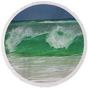 Ocean Wave 2 Round Beach Towel