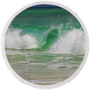 Ocean Wave 3 Round Beach Towel