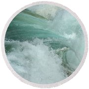 Ocean Wave 4 Round Beach Towel