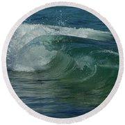 Ocean Wave 5 Round Beach Towel