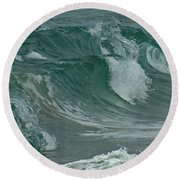Ocean Waves 2 Round Beach Towel