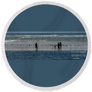 Ocean Way Round Beach Towel