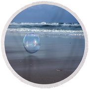 Oceanic Sphere  Round Beach Towel