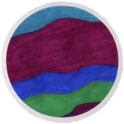 Oceans 1 Round Beach Towel