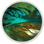 Oceans About You Round Beach Towel