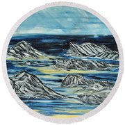 Oceans Of Worlds Round Beach Towel