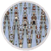 Oceanside California Abstract, Round Beach Towel