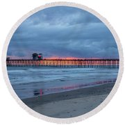 Oceanside Round Beach Towel
