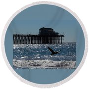Oceanside Resident Photograph Round Beach Towel