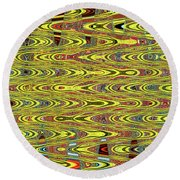 Oceanside Sea Lions On The Dock Abstract #9a Round Beach Towel