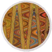 Oceanside Surfer Abstract. Round Beach Towel