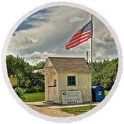 Ochopee Florida Post Office  Round Beach Towel