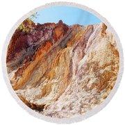 Ochre Pits Colours, West Mcdonald Ranges Round Beach Towel