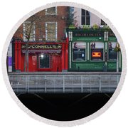Oconnells Pub And The Batchelor Inn - Dublin Ireland Round Beach Towel