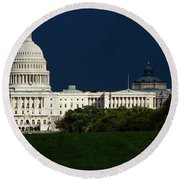 October Capitol Round Beach Towel