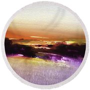 October Golds Round Beach Towel