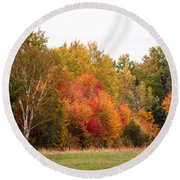 October In Maine 4 Round Beach Towel
