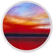 October Sky  Round Beach Towel