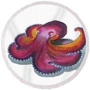 Octopus Dance Round Beach Towel