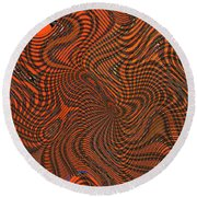 Octopus Red Round Beach Towel